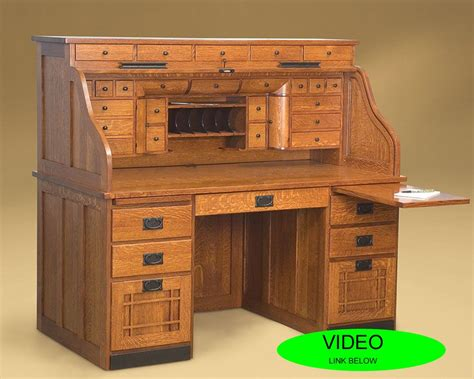 roll top desk with drawers amish roll top desk with lots of drawers mყ sƚυԃισ