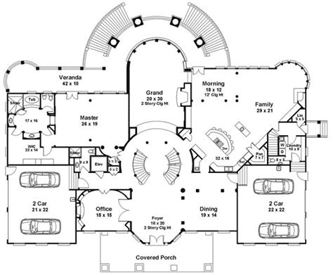 double staircase floor plans plan 12225jl majestic double staircase european house