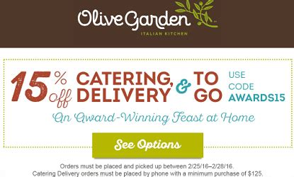 Olive Garden: 15% off Catering and ToGo Coupon Code ... Gardeners.com Coupon Code