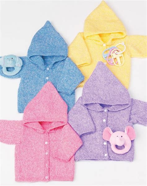 free pattern hoodie simple baby hoodies allfreeknitting com