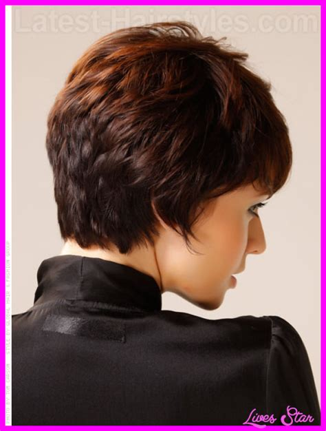 medium hair in back short in front short curly haircuts for women back and front livesstar