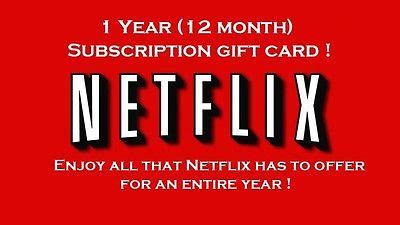 Netflix Gift Cards Online - netflix gift card online one year subscription