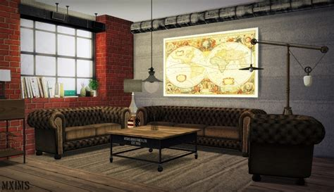 Set Ceiline Cc industrial living by mxims teh sims
