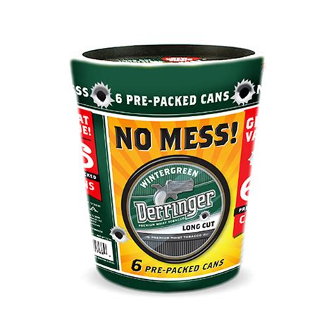 Tub Of Chewing Tobacco cn smokeless derringer premium moist tobacco 6 shooter tub
