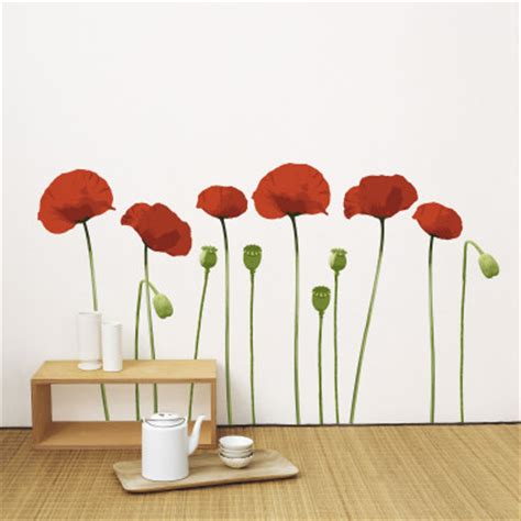 poppy wall stickers poppy wall decal at allposters au