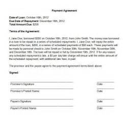 Simple Payment Agreement Template by Update 54079 Payment Agreement Template 39 Documents