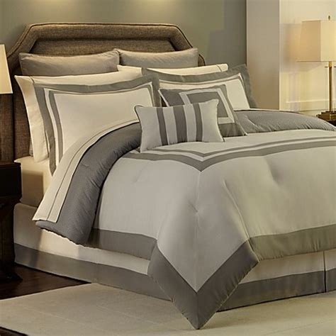 grey twin comforter set buy hotel reversible twin comforter set in grey from bed