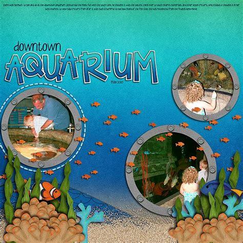 scrapbook layout aquarium 137 best images about zoo scrapbook layouts on pinterest