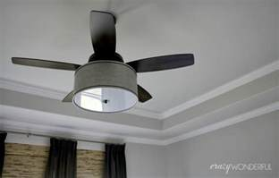 diy ceiling fan diy drum shade ceiling fan wonderful