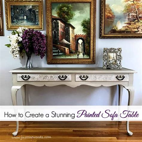 painted sofa table how to create a stunning painted sofa table