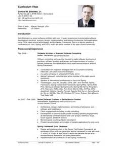Resume Cv Template by American Resume Sles Sle Resumes