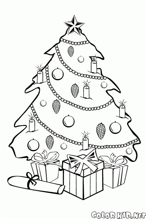 new christmas tree coloring pages coloring page new year and christmas tree