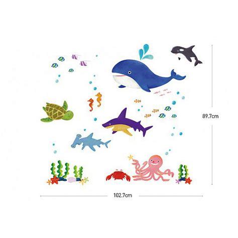 wandtattoo kinderzimmer hai wandsticker meerestiere walfisch hai orca wandsticker