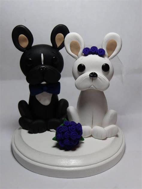 bulldog wedding cake topper custom bulldog cake topper by claycreationsbylaura