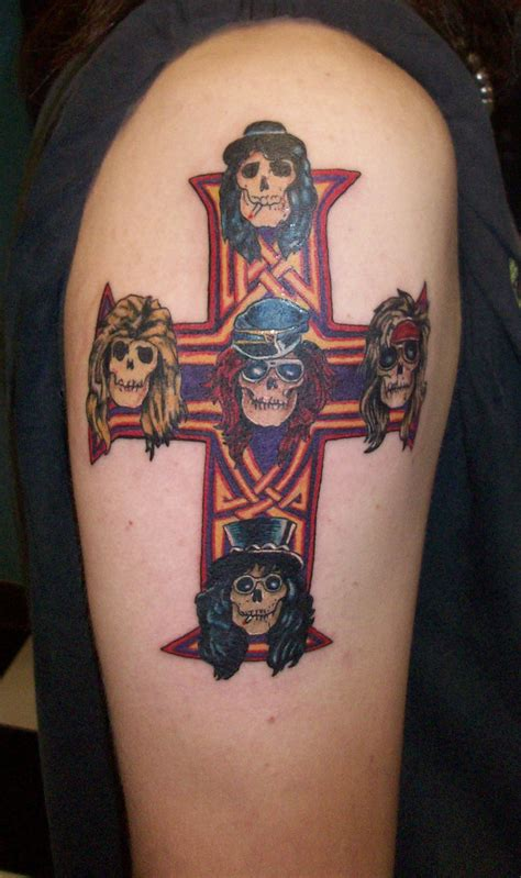axel rose tattoo guns and roses cross tattoos tattoomagz