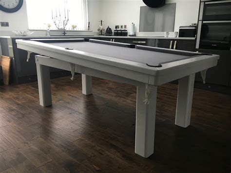 7ft pool dining table modern 7ft pool dining table in white silver pool table