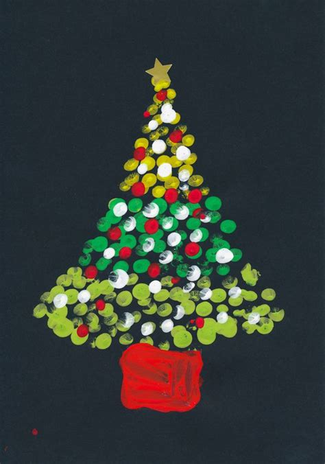 print tree art elementary pinterest christmas cards