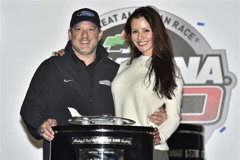 Tony Getting Used To Married by Tony Stewart And His Pennelope Jimenez With The