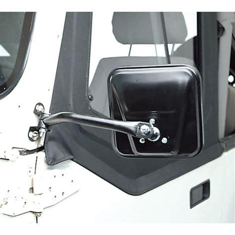 cipa  dual soft door mirror set  black    jeep wrangler yj quadratec