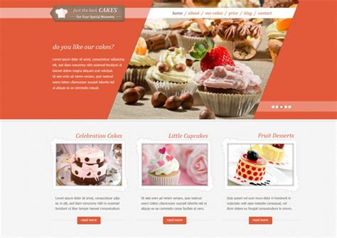 Cake Website Template by 35 Bakery Website Themes Templates Free Premium