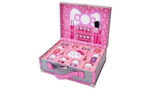 kitty makeup kit case groupon goods