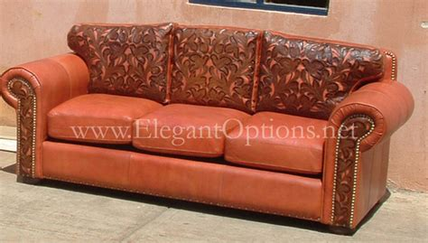 western tooled leather sofa custom tooled leather sofas