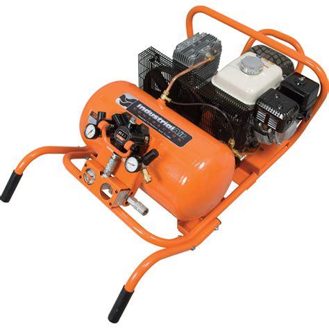 industrial air gas powered chopper wheelbarrow air compressor 5 5 hp honda engine 10 gallon