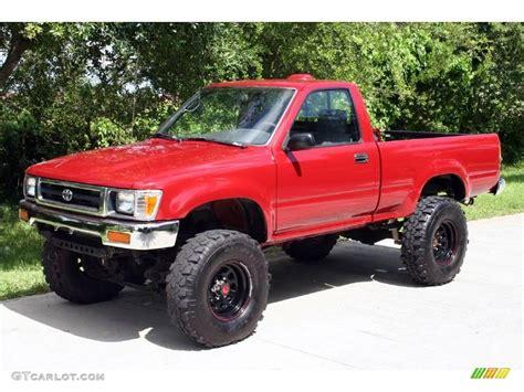 toyota pickup 4x4 1994 garnet red pearl toyota pickup dx regular cab 4x4