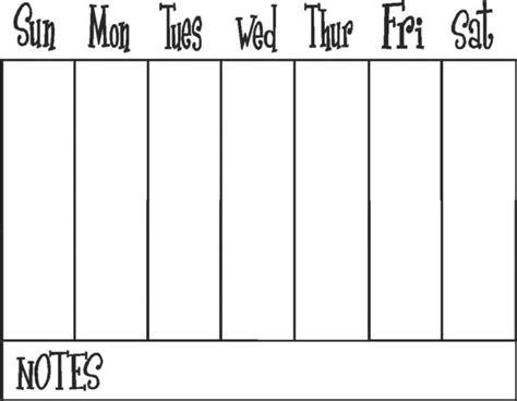 7 day calendar template 7 day calendar printable ecza solinf co
