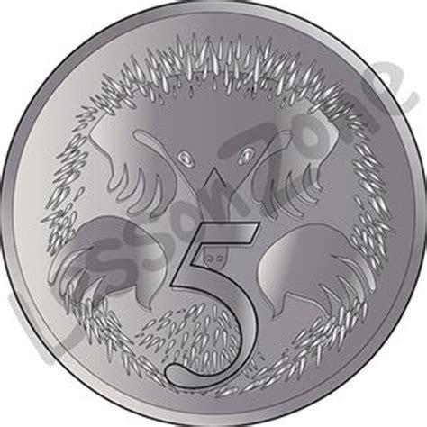 Australian Coins Outline by Lesson Zone Au Australian Dollar