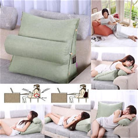 bedrest adjustable pillow  support tv reading bed rest cushion home decor ebay