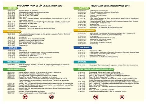 calendario de enero de 2013 actividades en familia s 225 bado 18 05 d 237 a de la familia caq colegio alem 225 n quito