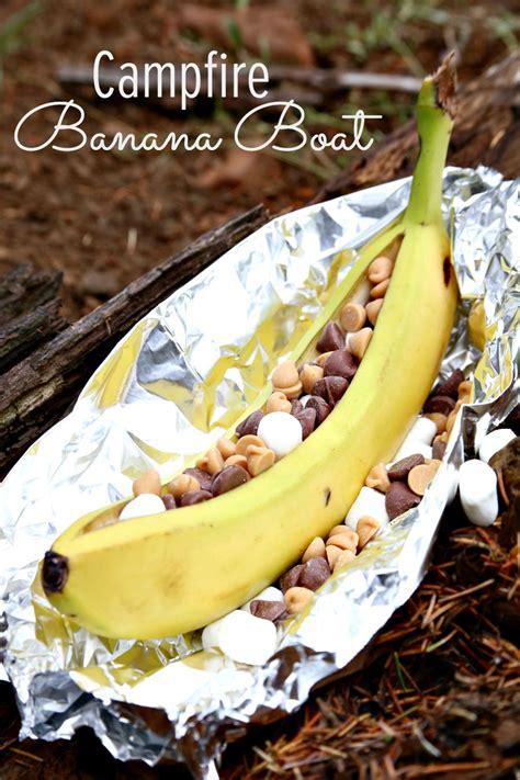 cing food ideas cfire banana boats - Banana Boat Over Fire