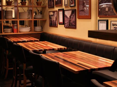 butcher block restaurant tables brick a brack wood countertop photo gallery by devos