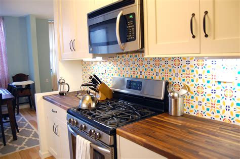 backsplash wallpaper for kitchen top 7 tips to personalize kitchen decor in rented apartment
