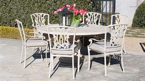 beaumont patio furniture beaumont 7 piece round dining setting outdoor dining