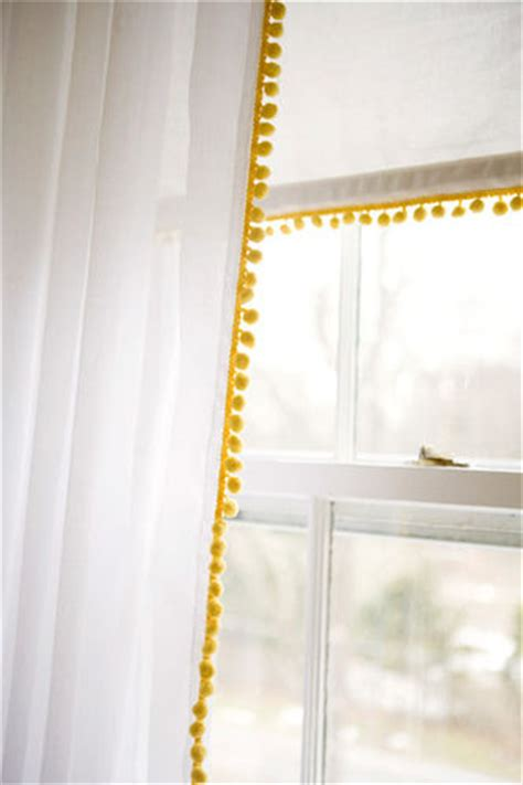 Pom Pom Trim For Curtains Remodelaholic 28 Ways To Spruce Up White Curtains