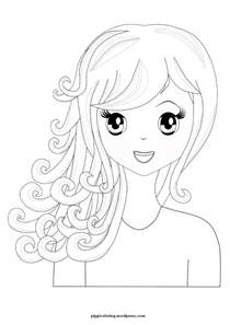 printable hairstyle pictures manga hair coloring pages hairstyles haircuts free