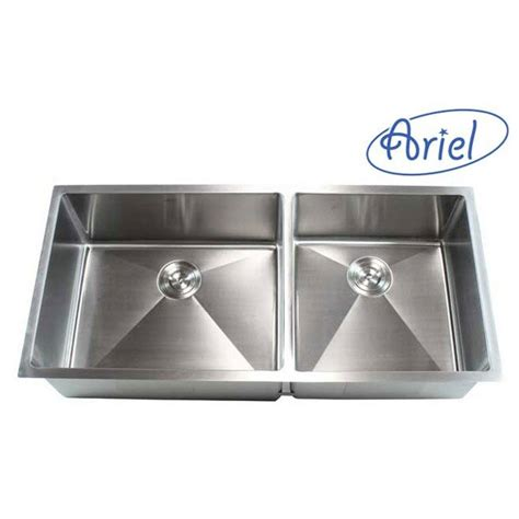 emodern decor ariel    double bowl undermount