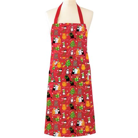 christmas cat apron by cooksmart
