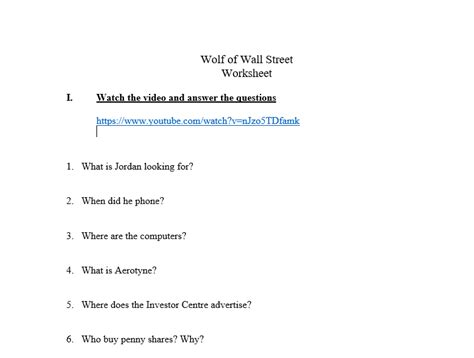 Catch Me If You Can Worksheet Answers