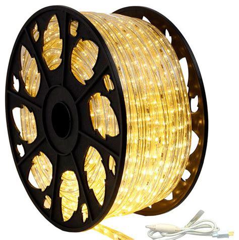120v Dimmable Led Warm White Rope Light 150 Kit Modern Modern String Lights