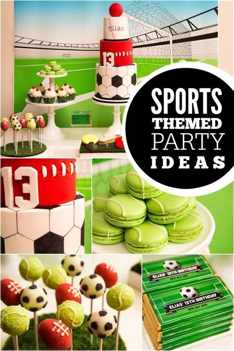 sports themed birthday decorations a sports themed boy s 1st birthday party spaceships and