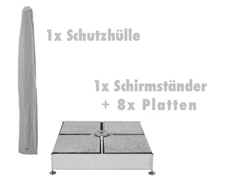 sonnenschirm sockel beton platten set glatz 171 8 platten f 252 r sockel m4 187 gartenm 246 bel