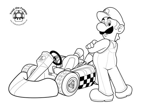 luigi coloring pages tmk archive 2008