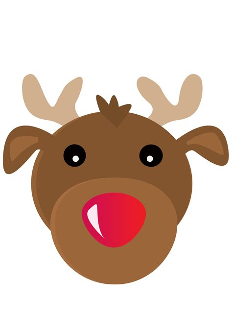 rudolph the nosed reindeer template rudolph the nosed reindeer mask cardboard