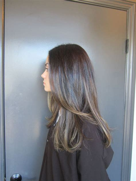 subtle colors subtle copper mid brown brunette hair highlights
