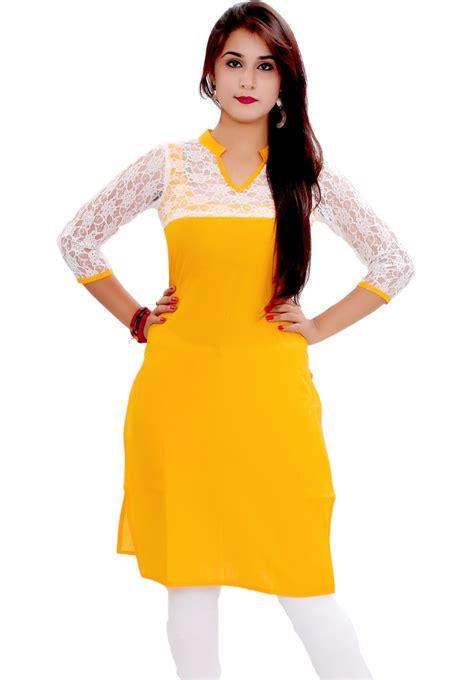 net pattern kurti gmi casual solid women s kurti buy yellow gmi casual