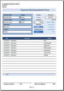 reimbursement form template free reimbursement form template for excel 2007 2016