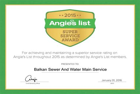 balkan is proud to be an quot angies list plumber quot